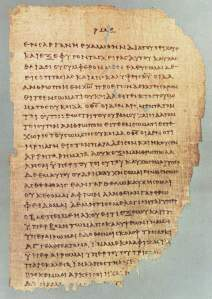 Folio from Papyrus 46, containing 2 Corinthians 11:33-12:9