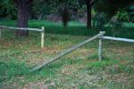 a broken fence.